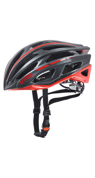 UVEX race 5 Helm black mat-red